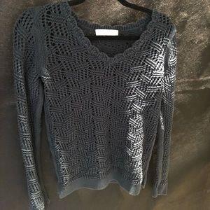 Loft teal sweater